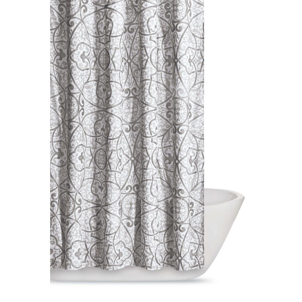 Truly Soft Marcello 72 In Grey Shower Curtain