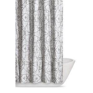 Truly Soft Marcello 72 inch Grey Shower Curtain by Truly Soft