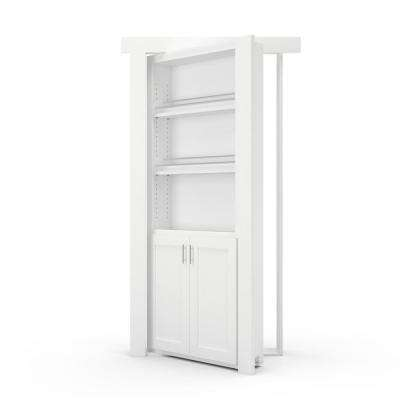 32 in. x 80 in. Flush Mount Assembled Forward Pantry Door Paint Grade White Right-Hand Outswing