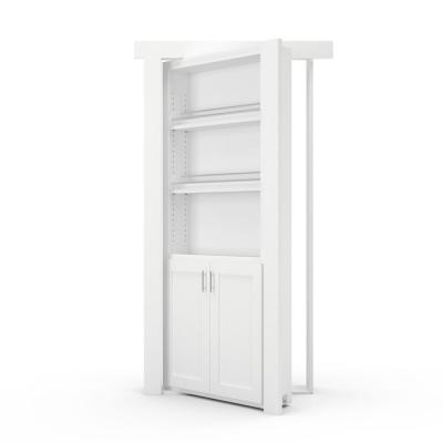 36 in. X 80 in. Flush Mount Assembled Forward Pantry Door Paint Grade White Right-Hand Outswing