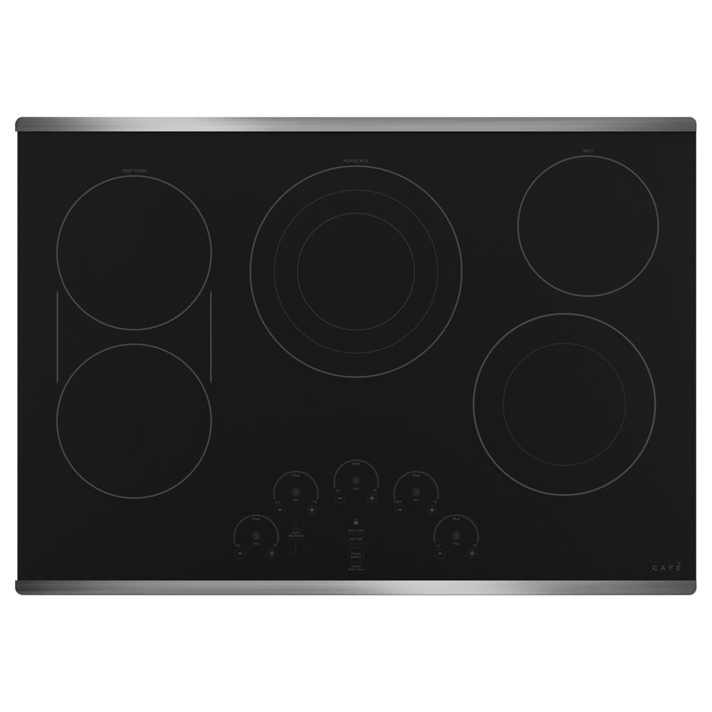 Cafe 30 in. Radiant Electric Cooktop in Stainless Steel with 5 Elements Including Tri-Ring Power Boil Element