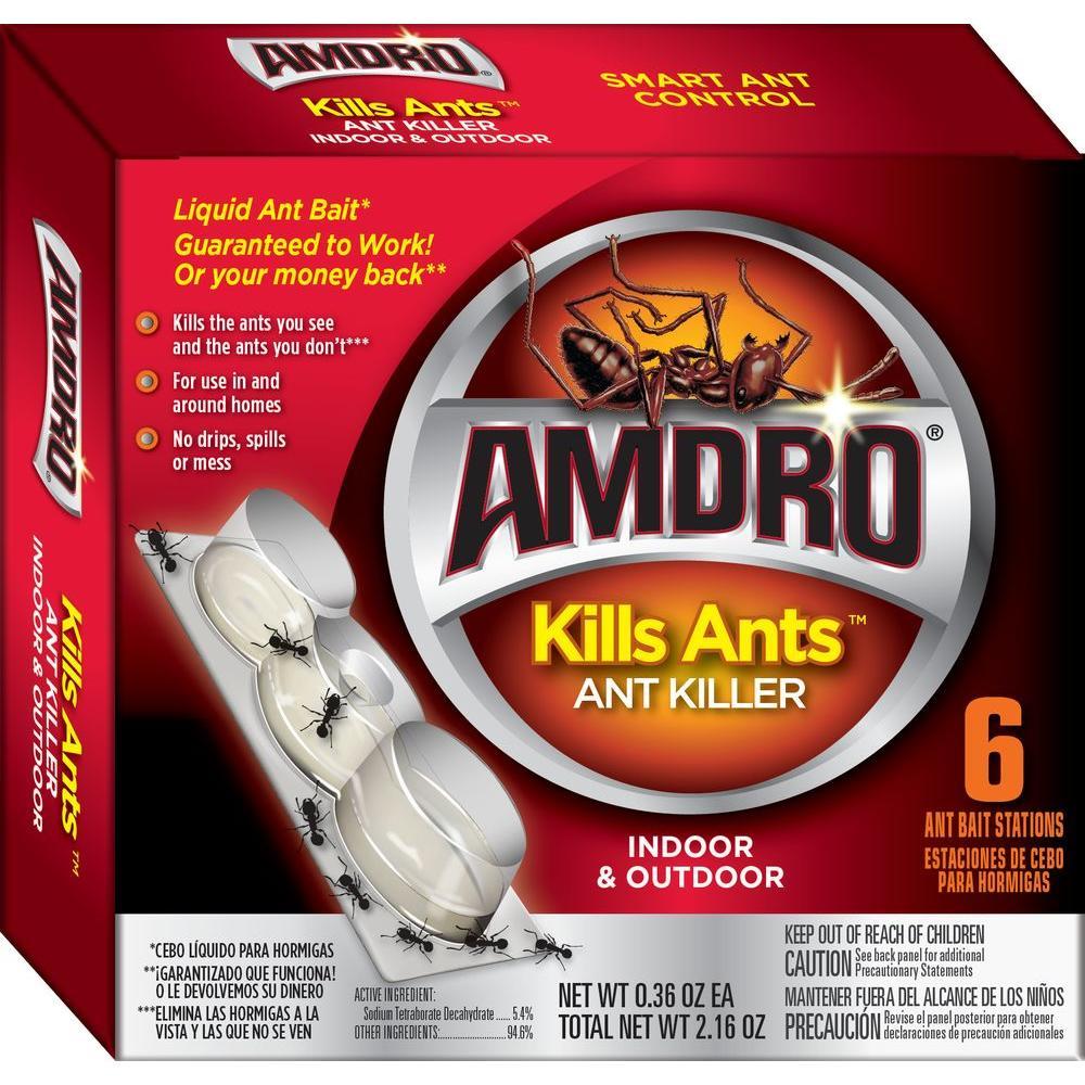 AMDRO Kills Ants Liquid Ant Killer Bait Stations (6-Pack) by AMDRO