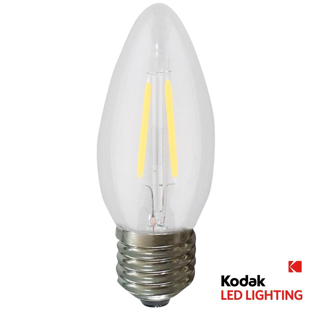 kodak 55w equivalent warm white b11 torpedo dimmable led light bulb 42047 ul the home depot. Black Bedroom Furniture Sets. Home Design Ideas