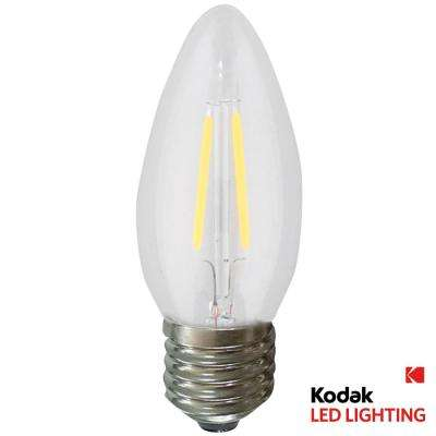 55W Equivalent Warm White B11 Torpedo Dimmable LED Light Bulb