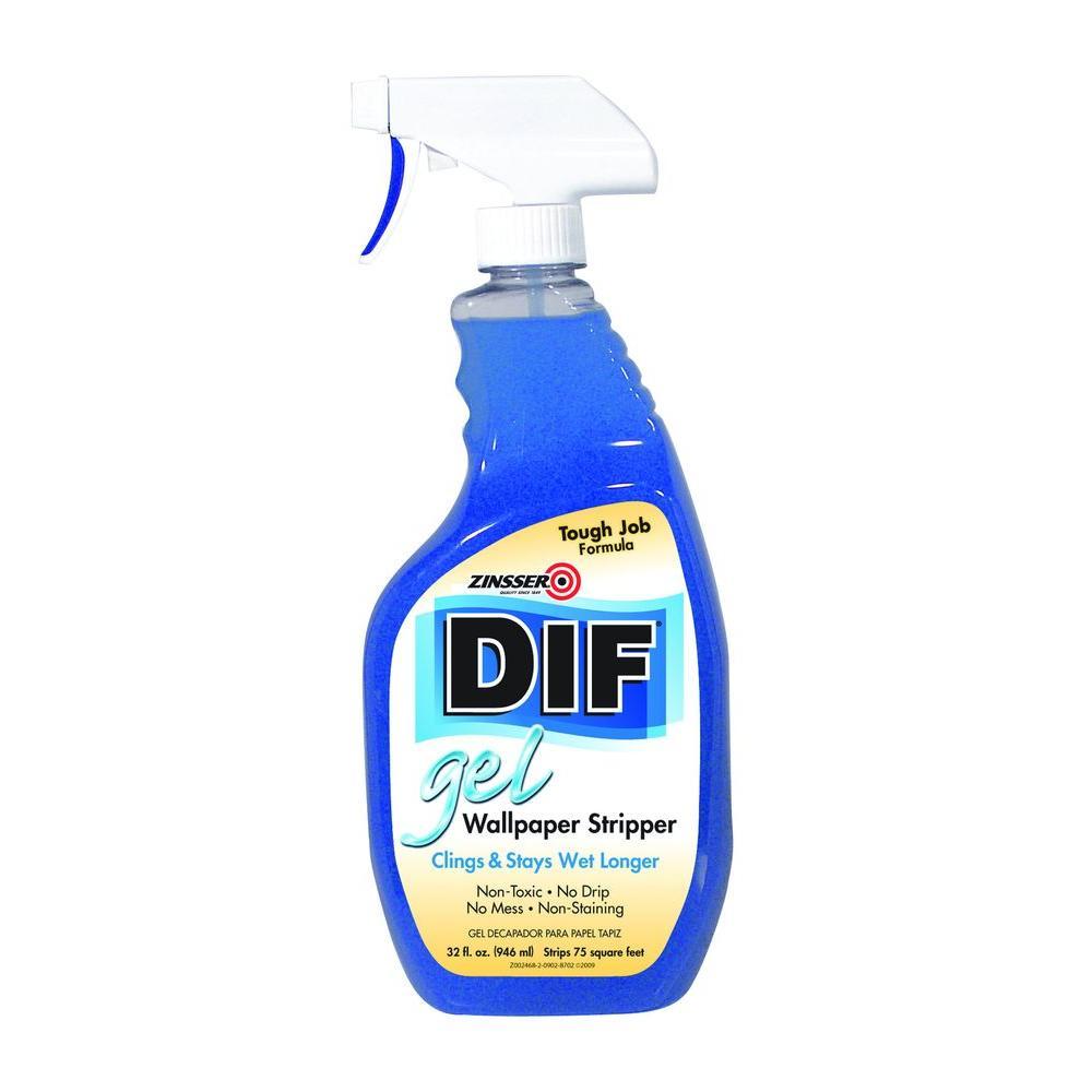 Zinsser 32 Oz Dif Gel Wallpaper Stripper Spray 2466 The Home Depot