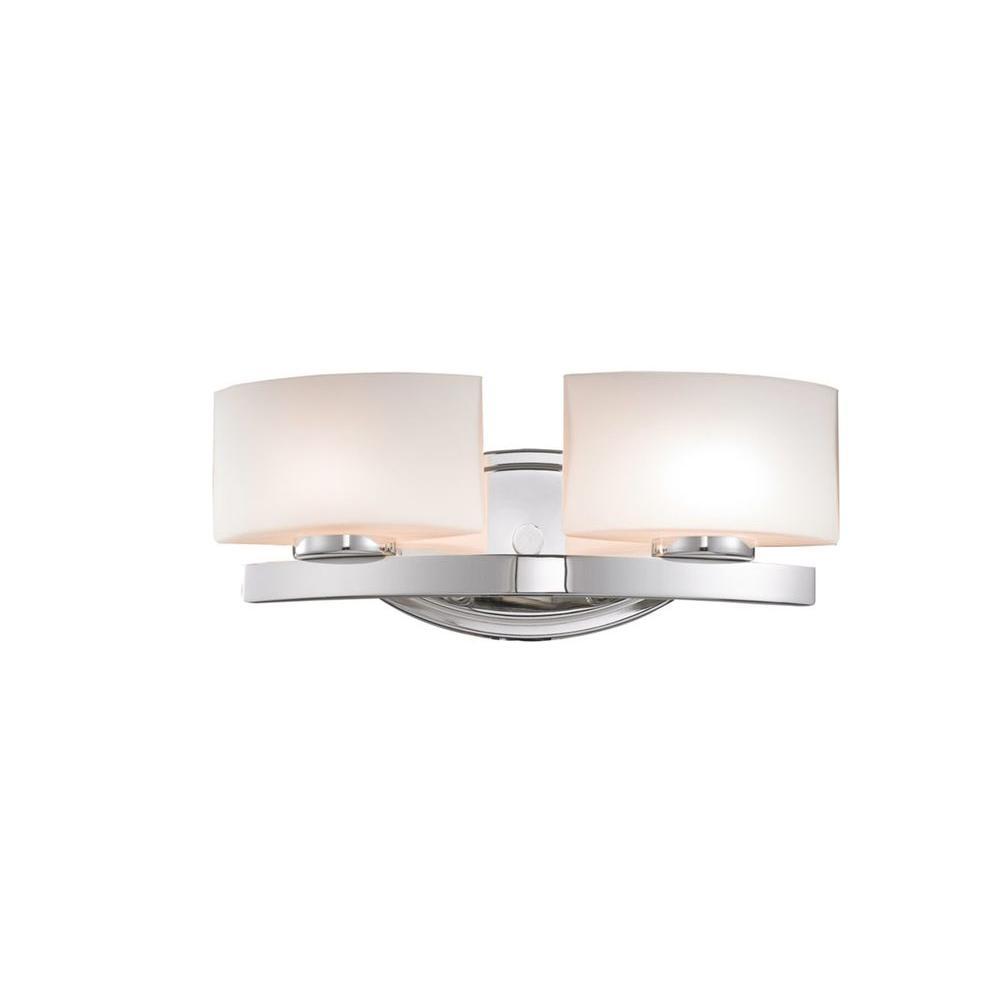 Filament Design Negron 4 Light Chrome Halogen Bath Vanity Light Cli Xy5248184 The Home Depot