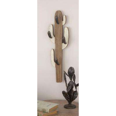 Wood Cactus Wall Hook