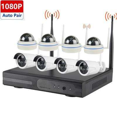 Wireless Series 8-CH 1080p HD 2TB HDD NVR Surveillance System with HDMI Port and 4-Outdoor Dome and 4-Bullet Cameras