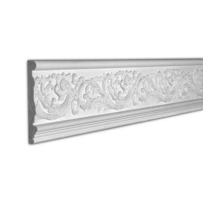 7-1/16 in. x 1 in. x 96 in. Floral Scroll Polyurethane Frieze Moulding Pro Pack 16 LF (2-Pack)
