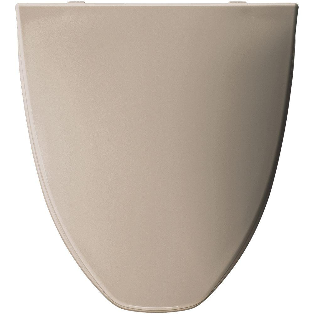 Elongated Closed Front Toilet Seat in Fawn Beige