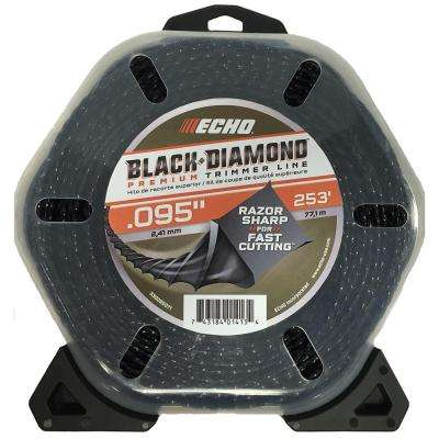 ".095"" Black Diamond Trimmer Line (253 ft.) Large Clam"