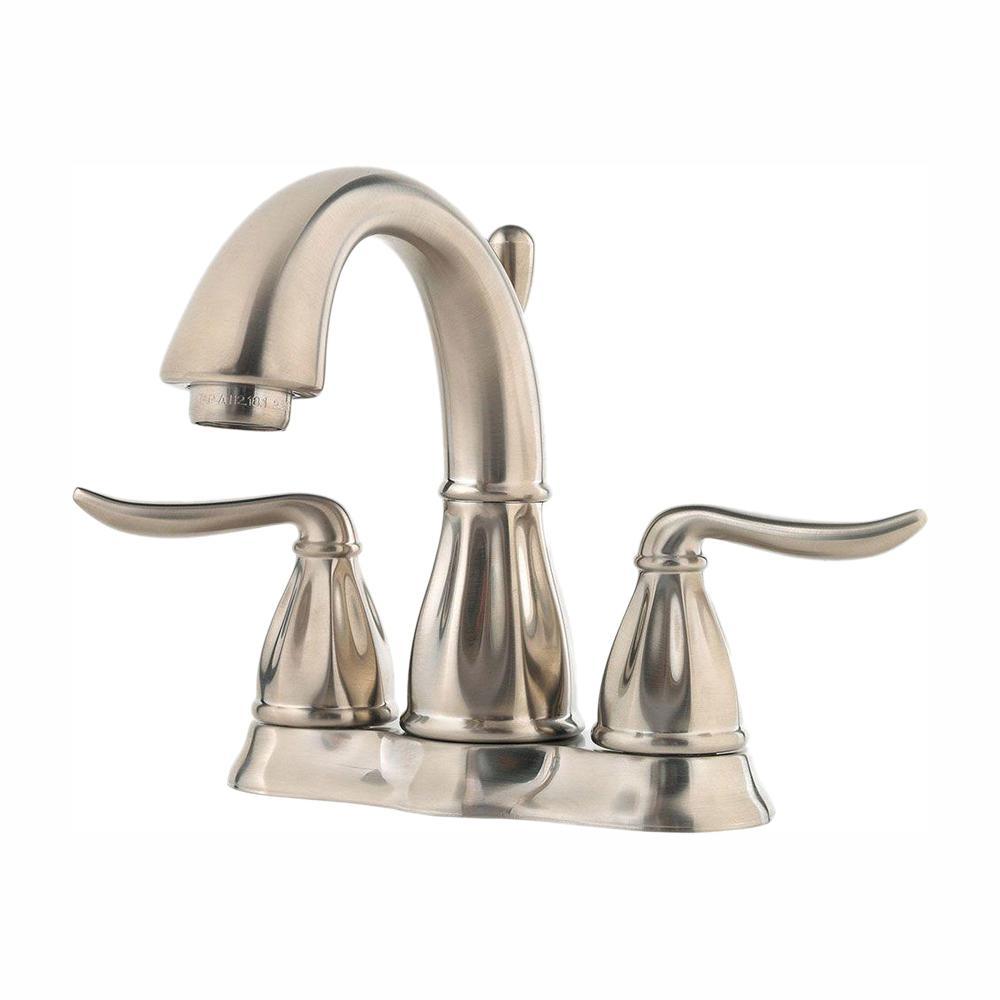 Sedona 4 in. Centerset 2-Handle Bathroom Faucet in Brushed Nickel