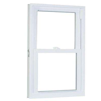 31.75 in. x 37.25 in. 70 Series Pro Double Hung White Vinyl Window with Buck Frame