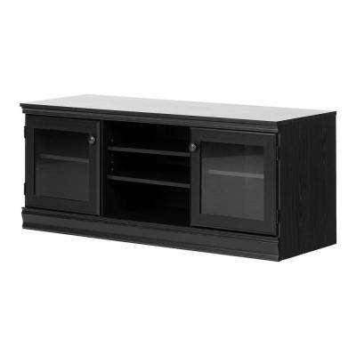 Morgan Black Oak TV Stand for TVs up to 75 in.