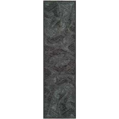 Palazzo Black/Grey 2 ft. x 7 ft. Runner Rug