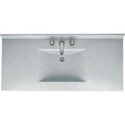 Contour 49 in. W x 22 in. D Solid Surface Vanity Top with Sink in Tahiti Gray