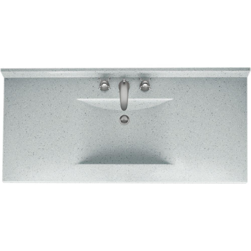 Swan Contour 49 in. Solid-Surface Vanity Top in Tahiti Gray with Tahiti Gray Basin