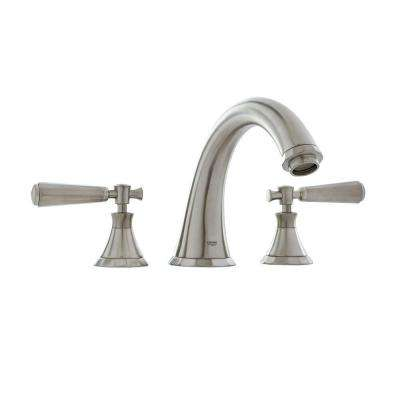 Kensington 2-Handle Deck-Mount Roman Tub Filler in Brushed Nickel Infinity
