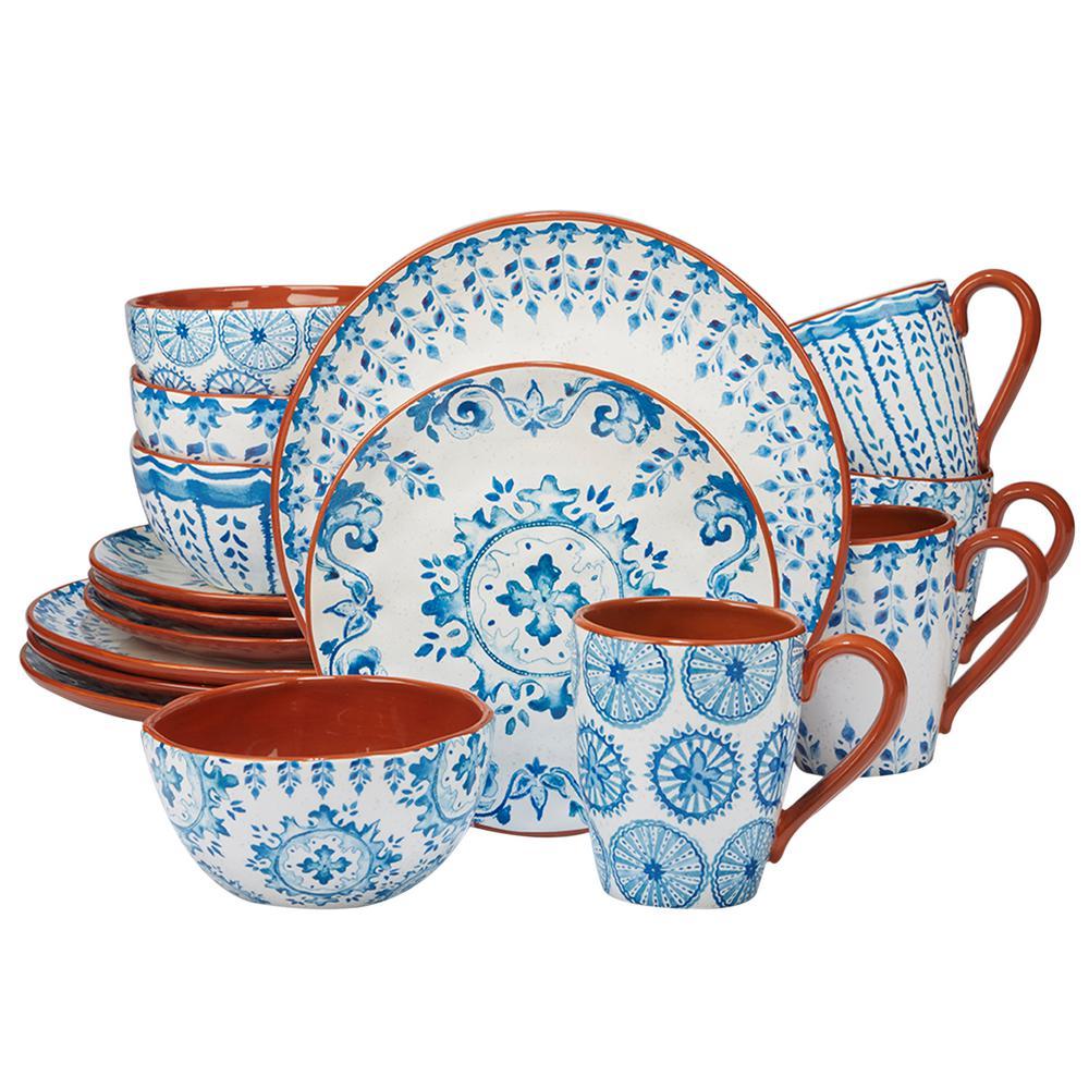 Certified International Porto 16-Piece Multi-Colored Dinnerware Set