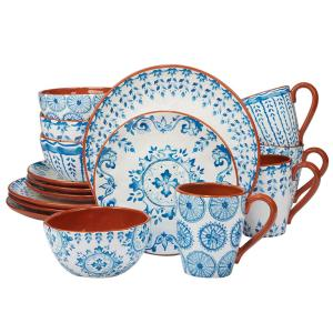 Porto 16-Piece Multi-Colored Dinnerware Set