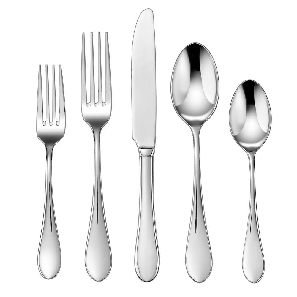 Irais 20-Piece Flatware in Stainless Steel (Set of 4)