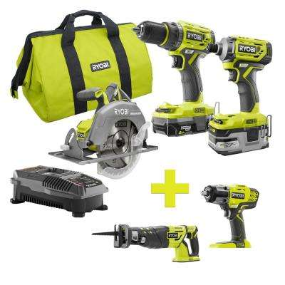 18-Volt ONE+ Lithium-Ion Cordless Brushless Combo Kit (3-Tool) w/Bonus Reciprocating Saw with Impact Wrench