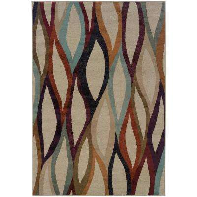 Graphic Graphite 9 ft. 10 in. x 12 ft. 9 in. Area Rug