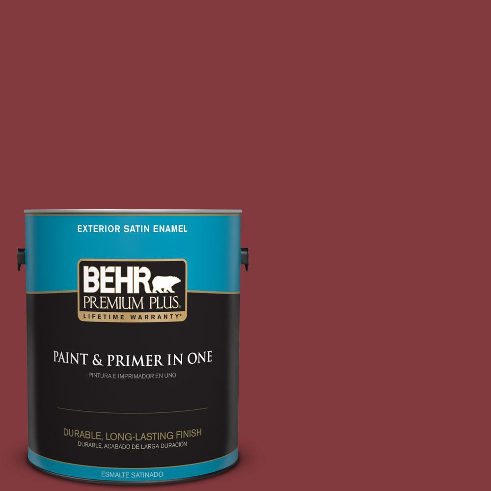 S H 130 Red Wine Satin Enamel Exterior Paint And Primer In One