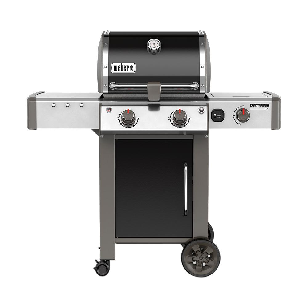 Genesis II LX E-240 2-Burner Natural Gas Grill in Black with