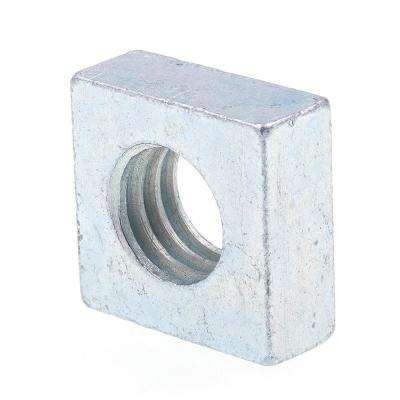 3/8 in -16 Zinc Plated Steel Square Nuts (25-Pack)