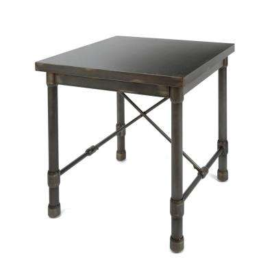Oxford Industrial Bronze End Table