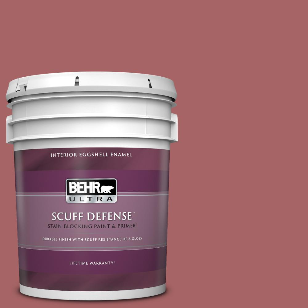 Behr Ultra 5 Gal Ppu1 06 Rose Marquee Extra Durable Eggshell Enamel Interior Paint Primer 275305 The Home Depot