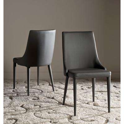Summerset Gray 19 in. H Leather Side Chair (Set of 2)