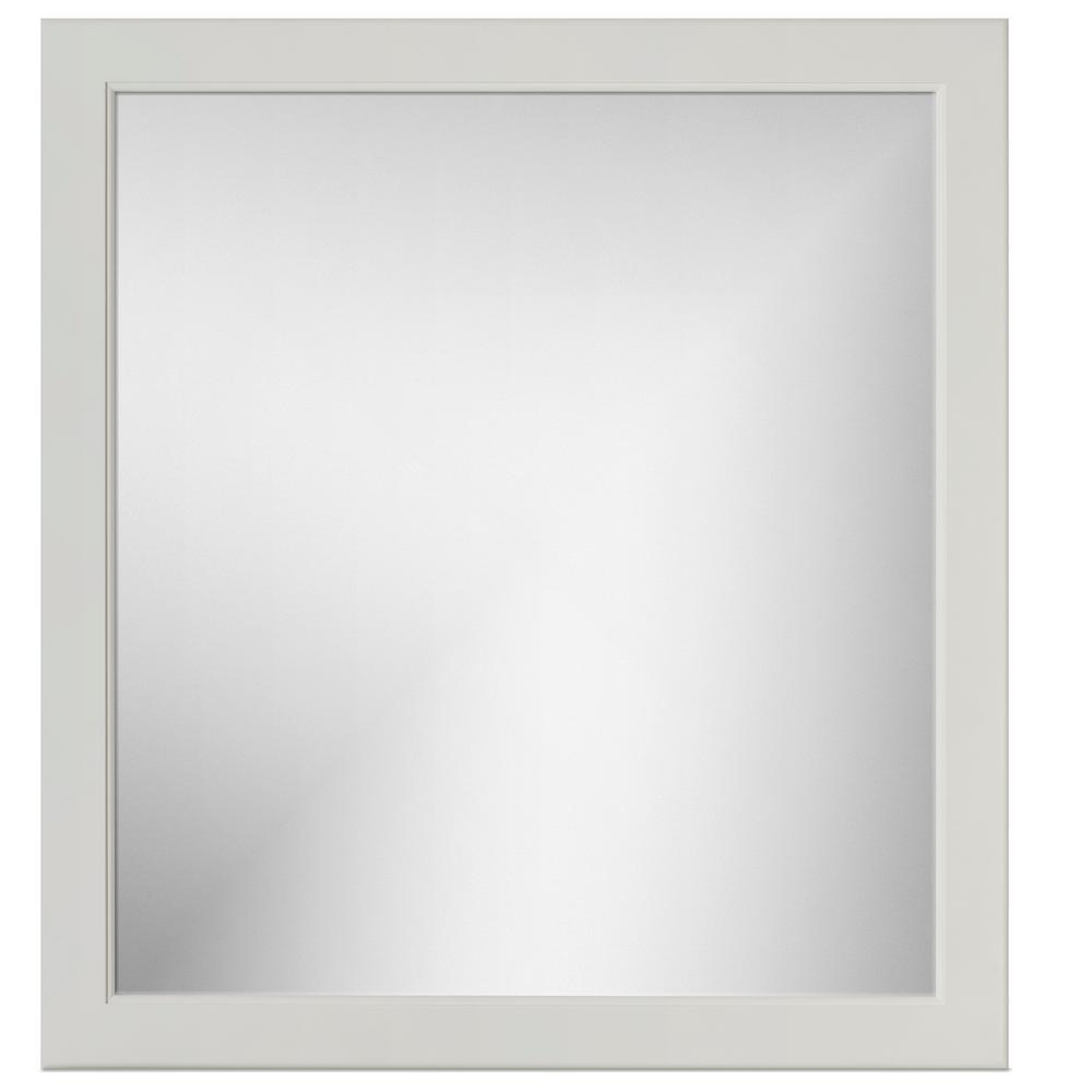 Simplicity by Strasser 30 in. W x .75 in. D x 32 in. Framed Mirror Rounded Dewy Morning