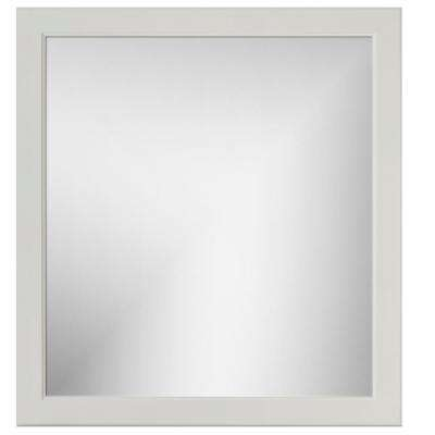 30 in. W x .75 in. D x 32 in. Framed Mirror Rounded Dewy Morning