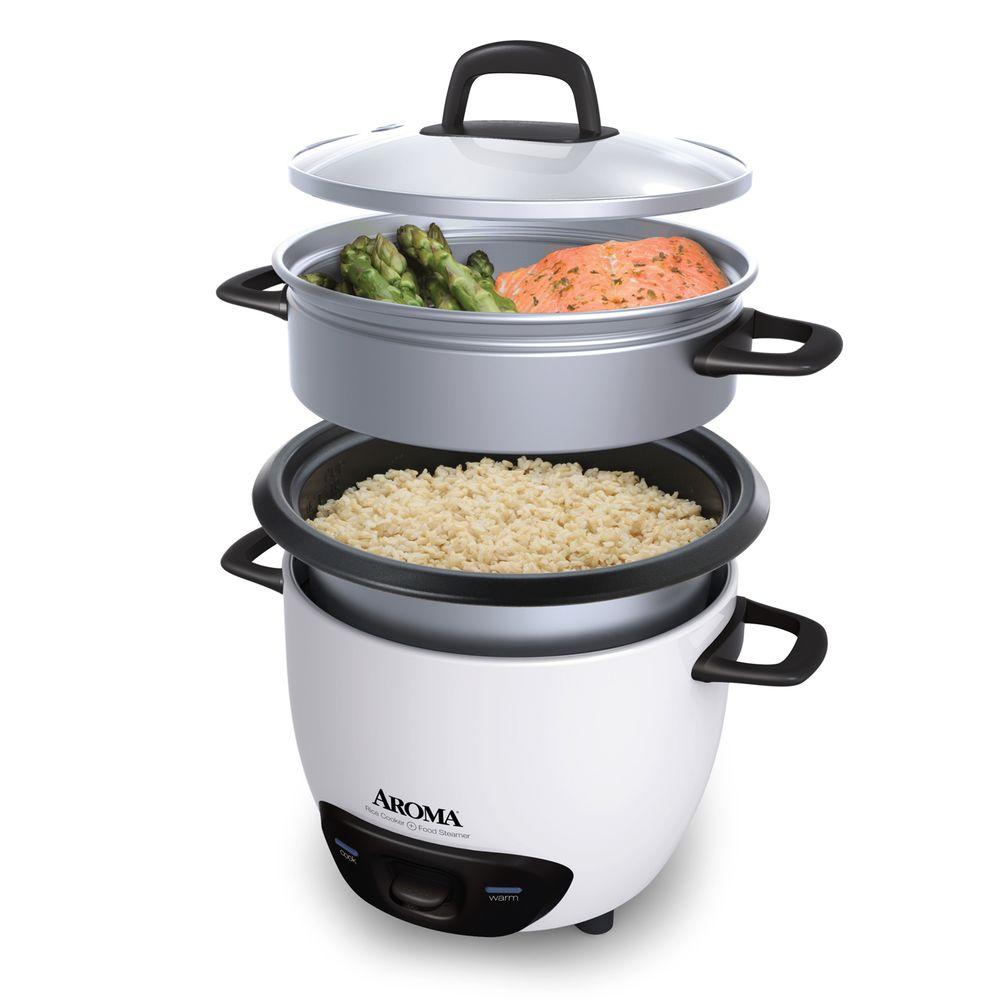 Aroma 6 cup pot style rice cooker arc 743 1ng the home depot - Six alternative uses of rice at home ...