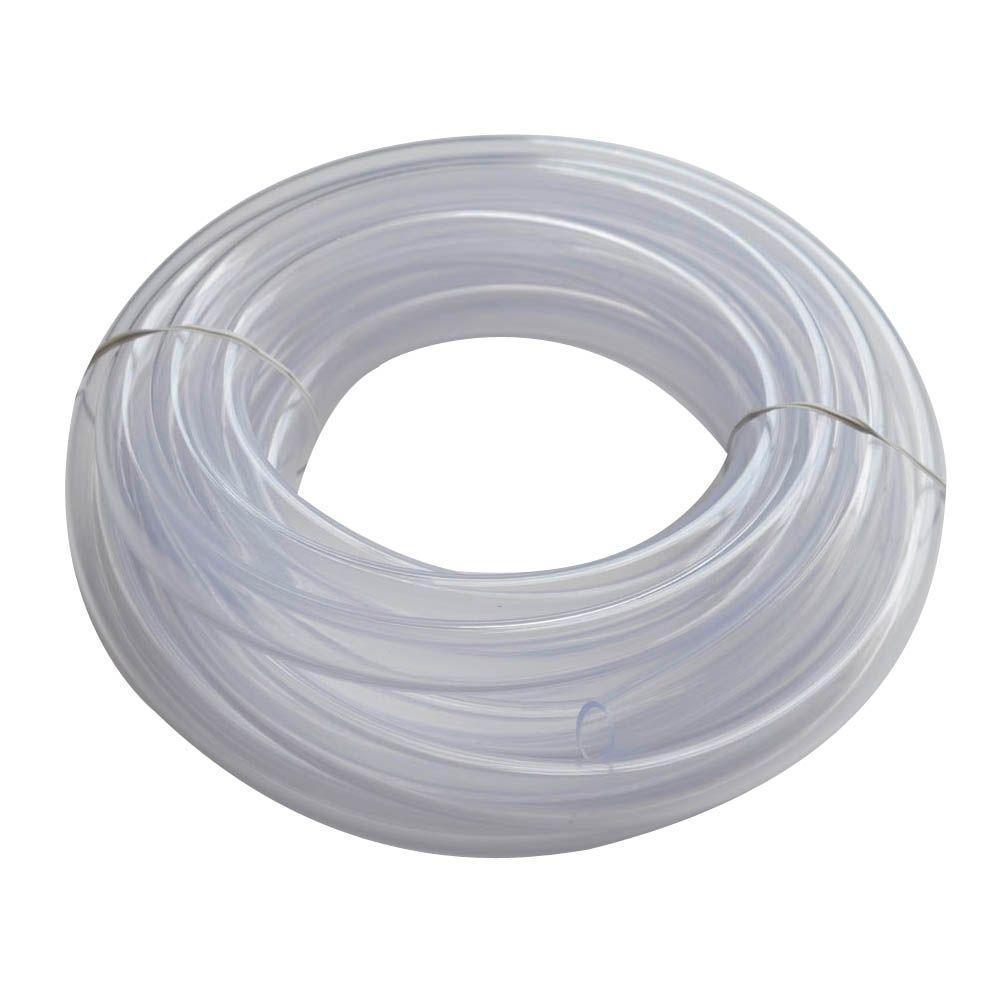 """1//4"""" ID x 3//8"""" OD x 10' FOOT CLEAR PVC VINYL FLEX TUBE WATER AIR LINE FOOD SAFE"""