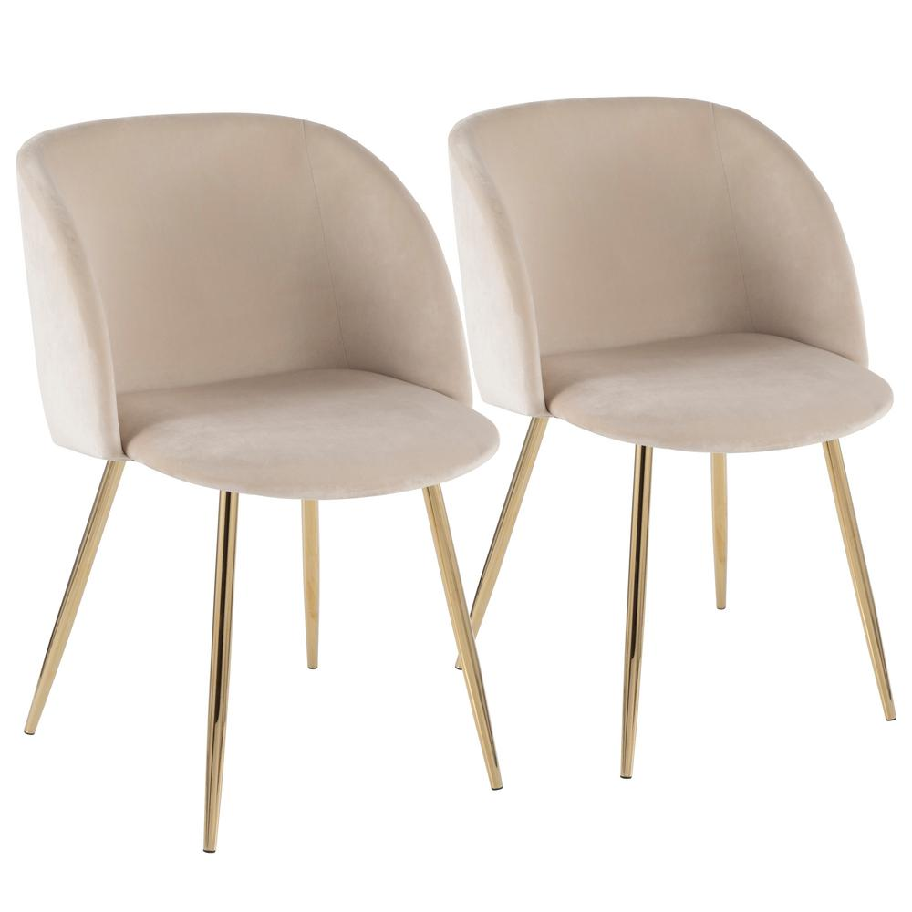 81a00d9a3db Lumisource Fran Cream Velvet and Gold Chair (Set of 2)-CH-FRAN AU+ ...
