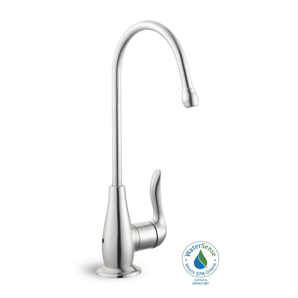Modern Single-Handle Beverage Faucet in Stainless Steel