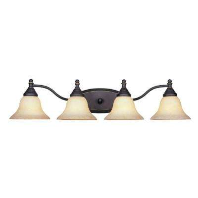 Ellsworth Collection 4-Light Aged Bronze Wall Mount Patina Vanity Light