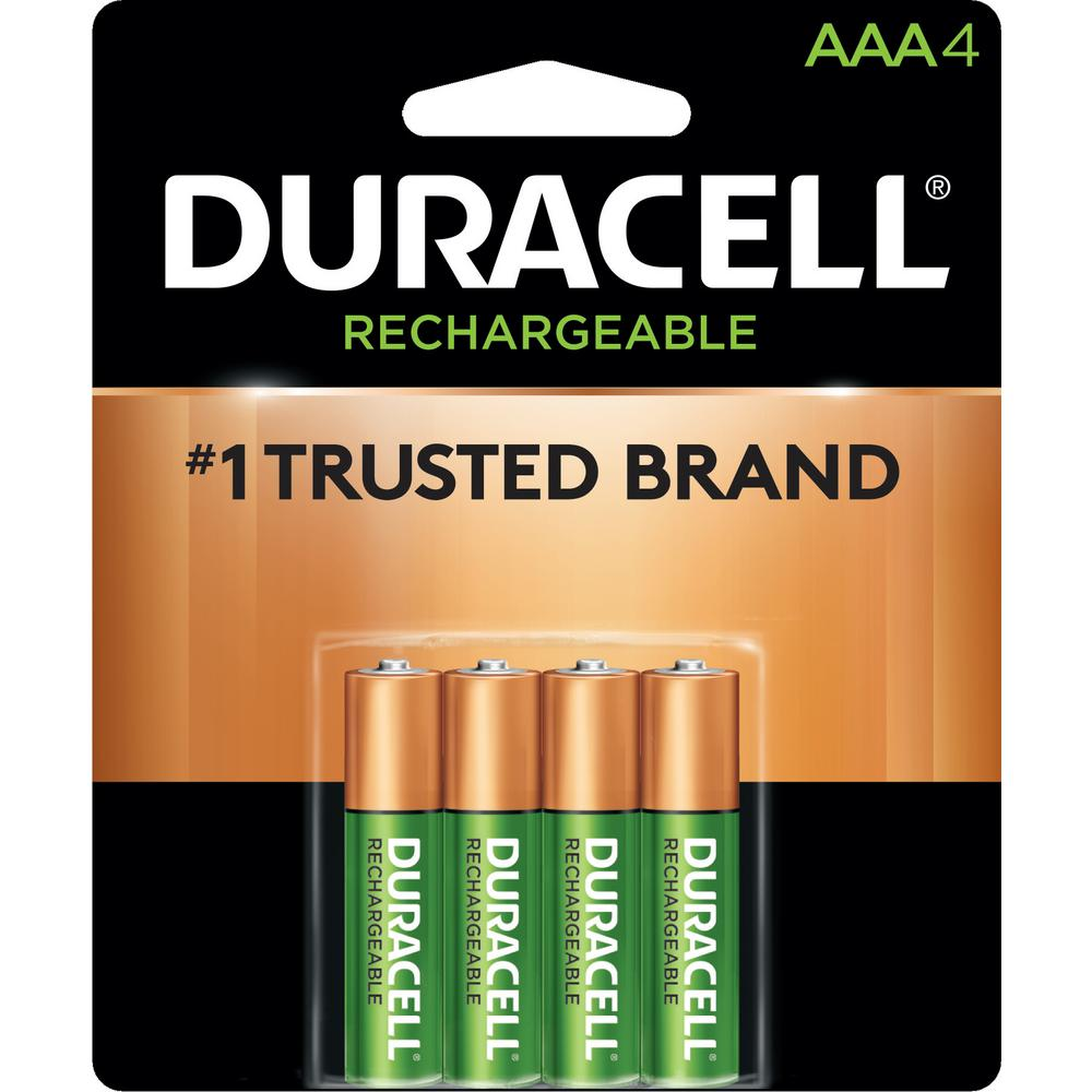 Duracell Rechargeable AAA NiMH Battery (4-Pack)