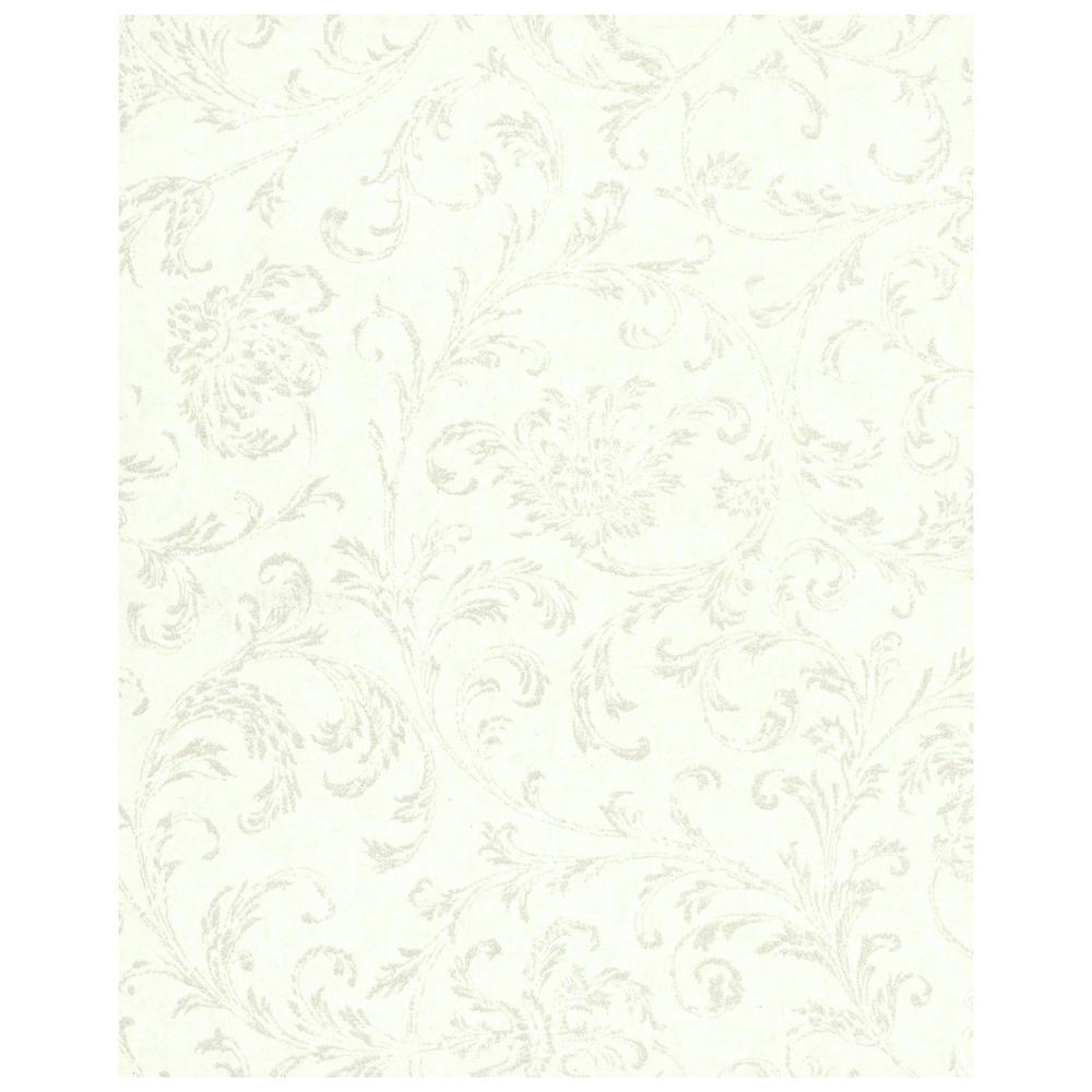 York Wallcoverings Delicate Scroll Wallpaper TN0038