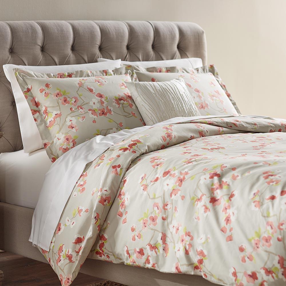 Home Decorators Collection Hana Grey/Pink Twin Duvet