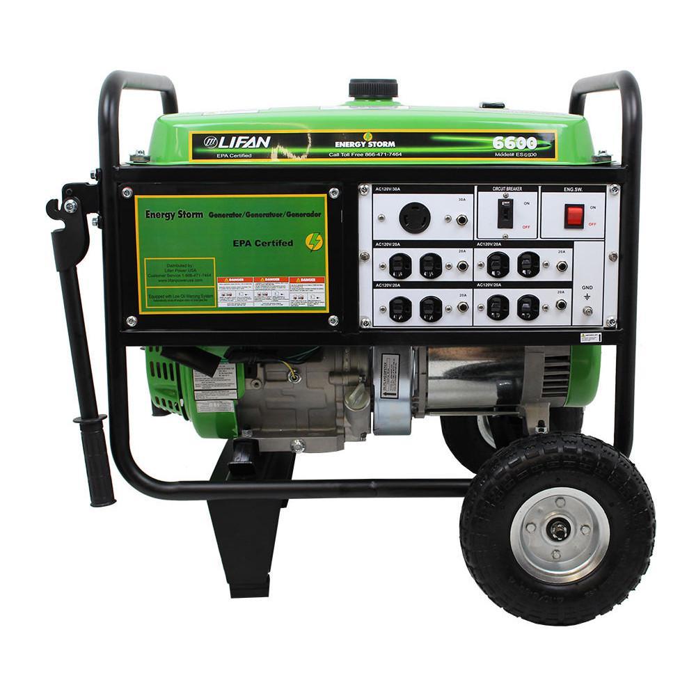 Energy Storm 6,600-Watt/6,000-Watt Recoil Start Gasoline Powered Portable Generator