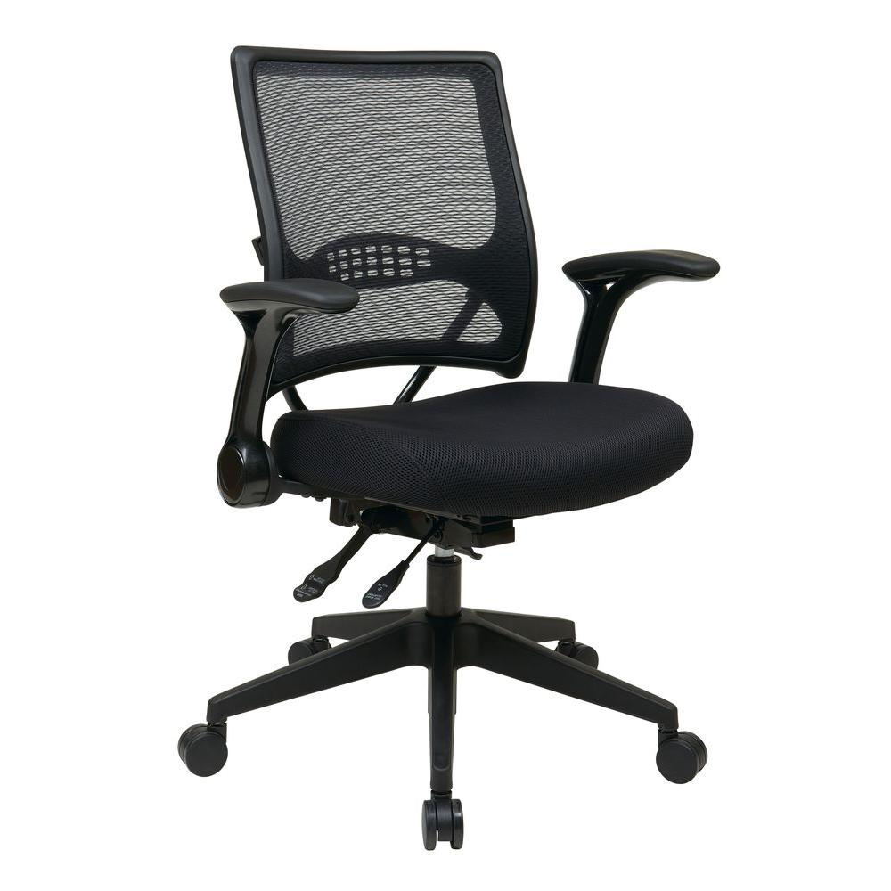 Space Seating Professional AirGrid Back and Mesh Seat Managers Chair in Black