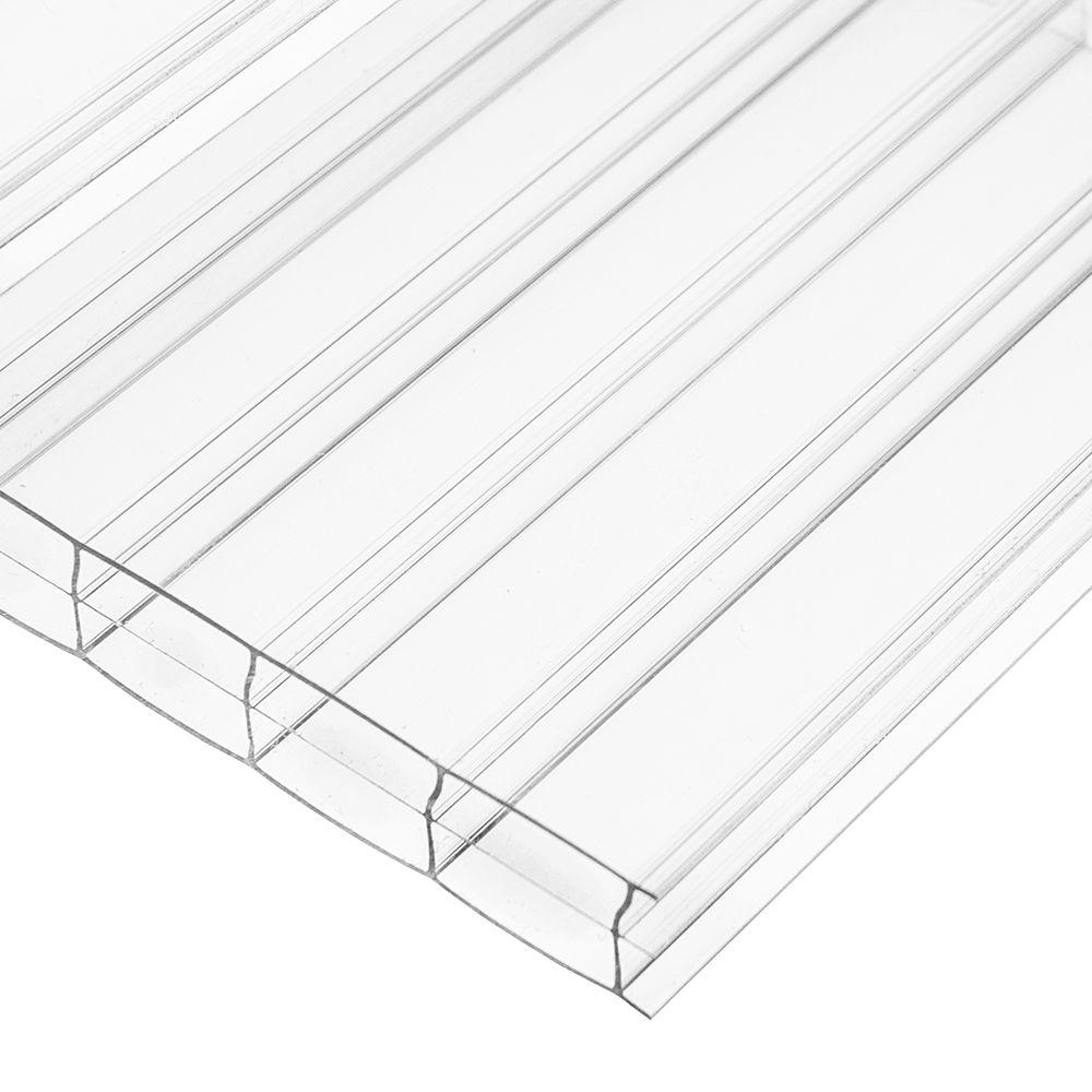 48 in. x 96 in. x 16 mm Polycarbonate Clear Triplewall
