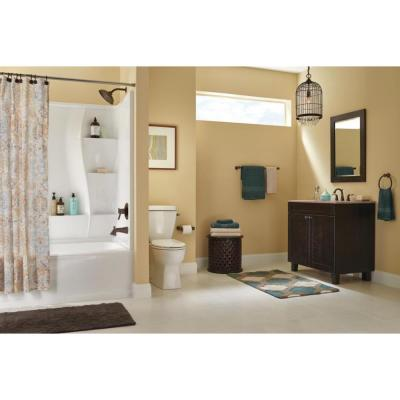 Classic 400 32 in. x 60 in. x 80 in. Standard Fit Bath and Shower Kit with Right-Hand Drain in White