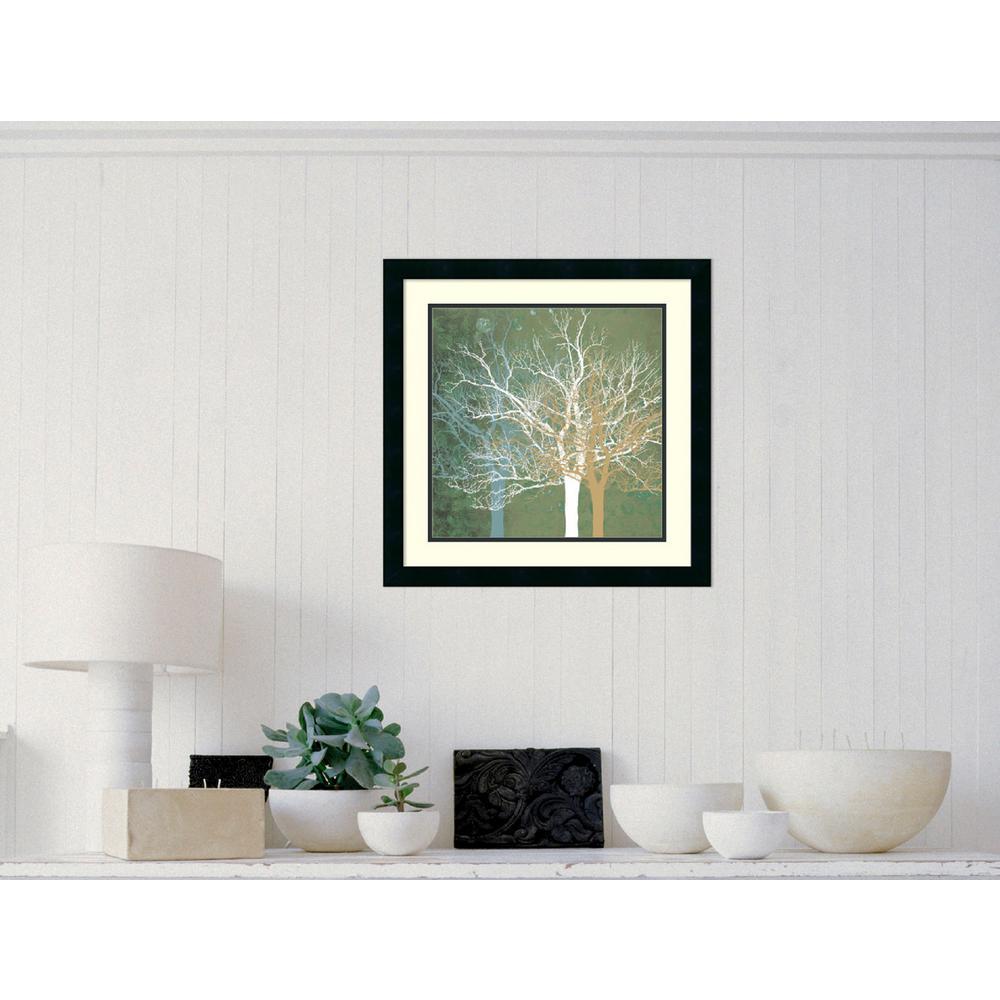 "22 in. W x 22 in. H ""Quiet Forest"" by Erin Clark Framed Art Print"