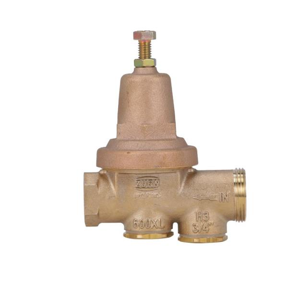 3/4 in. x 3/4 in. Brass Pipe-Thread Water-Pressure Reducing Valve