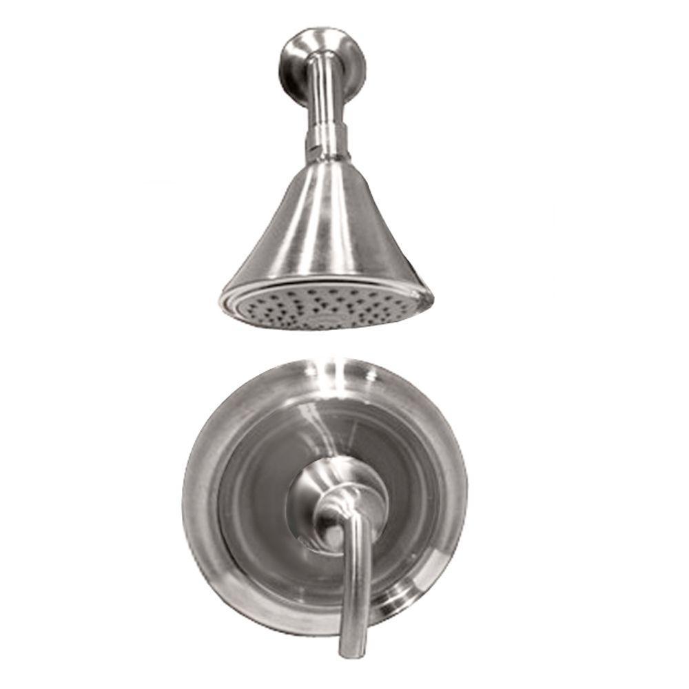 Tropic 1-Handle Shower Faucet Trim Kit in Brushed Nickel (Valve Sold Separately)